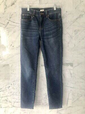 J CREW Womens High Waist Skinny Blue Jeans Stretch Size 26/28 New Without Tags