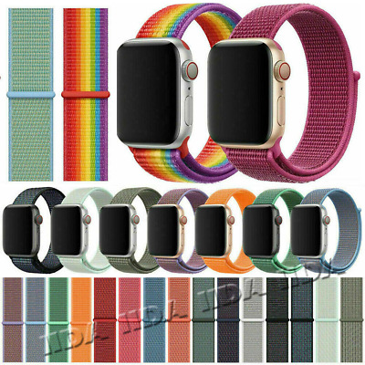 Nylon Sports Loop Band Replacement for Apple Watch Strap iWatch Series 5 4 3 2 1