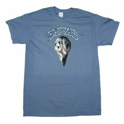 Eagles Greatest Hits Distressed Logo Blue T-Shirt Men's Licensed Band Tee S-XL