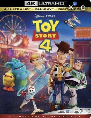 TOY STORY 4 4K ULTRA HD+BLU RAY+Digital HD PRE-ORDER YOURS NOW! W/ Slipcover!