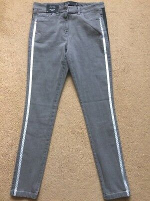 NEXT Women's Grey Mid Rise Highwaisted Superstretch Skinny Fit Jeans, UK12R, £35