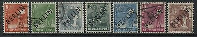 Germany overprinted BERLIN various values to 60 pf used