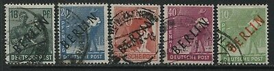 Germany overprinted BERLIN various values to 40 pf used
