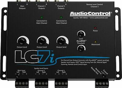 NEW AUDIO CONTROL LC7i / 6 CHANNEL LINE OUT CONVERTER w/ AccuBASS  BLACK