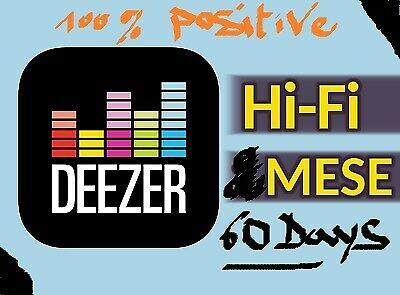 💥Deezer HiFi (High Res) 2 months/Mesi 💯PERSONAL🌐WWide 🚀 Fast Delivery