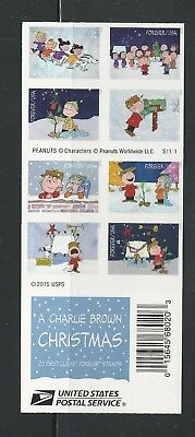 2015 #5021-5030 A Charlie Brown Christmas 20 Forever Stamps Mint Holiday Peanuts