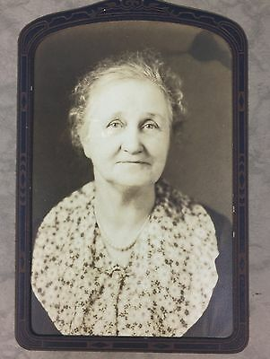 Antique Photo Cabinet Card Woman Turn of Century Early 1900s Oregon Grants MI271