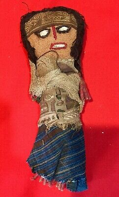 Pre Columbian Chancay Textile Doll 'Pretty Lady' 1000-1400AD With COA