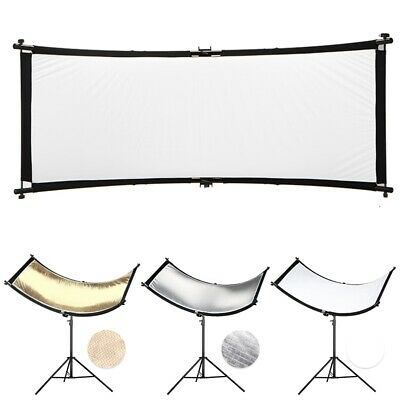 160x55cm U-type 3in1 Curved Reflector Collapsible For Photography Studio Light
