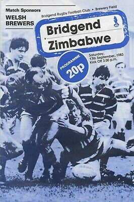 Sep 83 BRIDGEND v ZIMBABWE