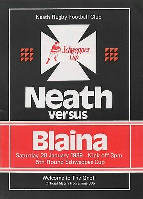 Jan 89 NEATH v BLAINA Schweppes Welsh Cup