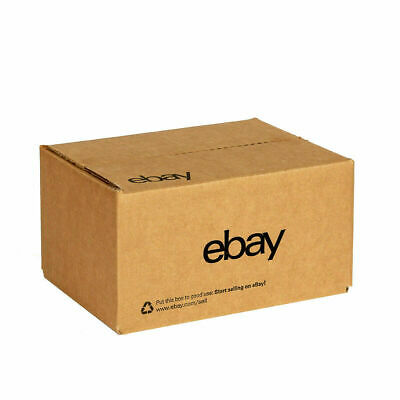 "5 eBay Official Branded Boxes With Black Color Logo 6"" x 4"" x 4"" Brand New"