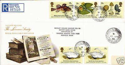 19 January 1988 Linnean Society Royal Mail First Day Cover Mickley Square Cds