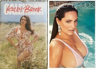 2 Kelly Brook official calendars - 2020 & 2018 factory sealed - for collectors