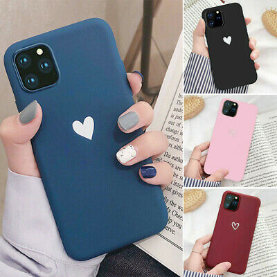 Case For iPhone11 /11Pro Max ShockProof TPU Soft Cute Heart Phone Cover Silicone