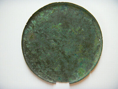 ANCIENT ROMAN BRONZE LARGE MIRROR 111 mm 200 B.C.