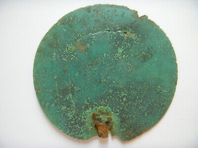 ANCIENT ROMAN BRONZE LARGE MIRROR 142 mm ca. 300 B.C.