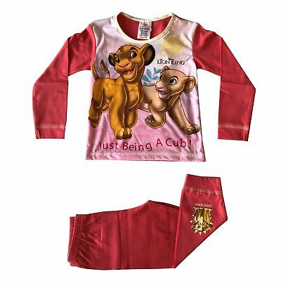 The Lion King Just Being A Cub Girls Pink Snuggle Fit Pyjamas
