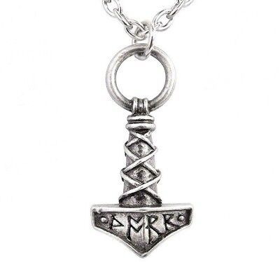 Thor's Hammer Mjolnir Pewter Protection Amulet Norse Pendant P696 Alchemy Gothic