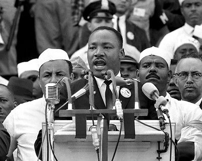 1963 MARTIN LUTHER KING JR Glossy 8x10 Photo 'I Have A Dream' Speech Print