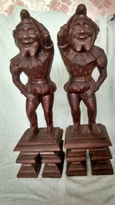 Antique French carved wooden figures