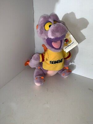 "Figment Dragon Stuffed Plush 10"" Animal Walt Disney World Disneyland Epcot"