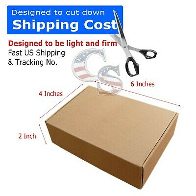 100 - 6 x 4 x 2 Cardboard Shipping Mailer Packing Box Boxes