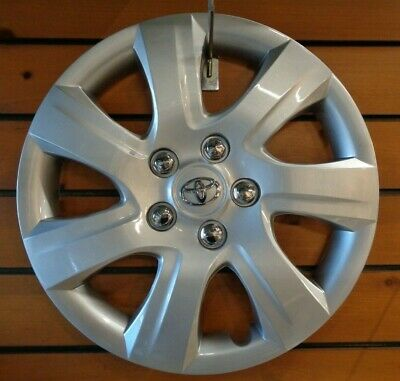 """1 New Wheel Cover Hubcap Fits 2010 2011 Toyota Camry Style 16"""" Silver Steel Whee"""