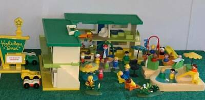 Vintage Fisher Price Little People + Playskool Holiday Inn+Accessories Huge Lot