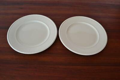 Wedgwood Edme Ribbed Rim Dinner Plates 2 pcs Etruria Barlaston England