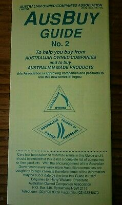 Political pamphlet Buy Australian Keating Government 1991.