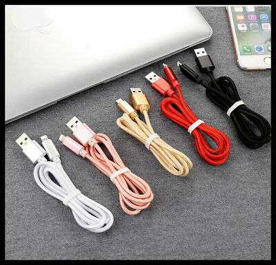 Lightning Charger Cable Compatible Genuine Apple iPhone 5s 6s 7 S 8 X iPad