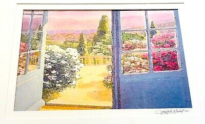 KIMBERLY MARSHALL Original Watercolor Painting,  Signed & Dated 2001