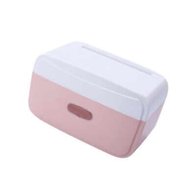 1pc Tissue Box Durable Waterproof Punch Free Roll Paper Tissue Case for Bathroom