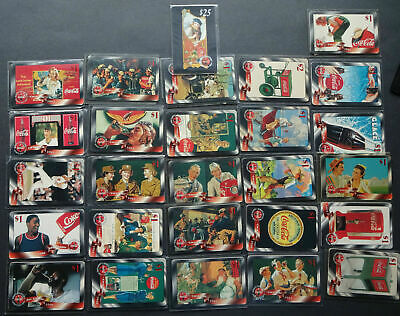 Phone Cards Prepaid Calling Card Mint / Coca Cola 27 Piece from 500 Edition $25