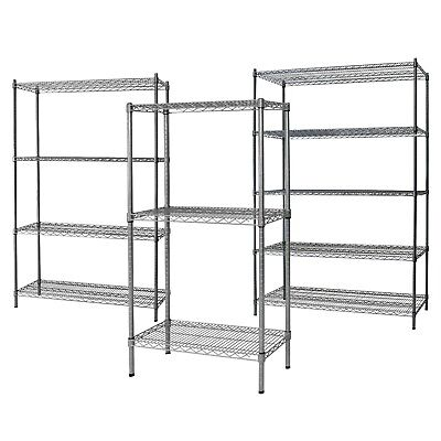 CRH Epoxy Powder Coat Shelf Unit -  Zinc Plated Steel Shelving Unit