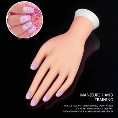 Adjustable Practice Fake Finger Model For Hand Manicure Nail Art Training
