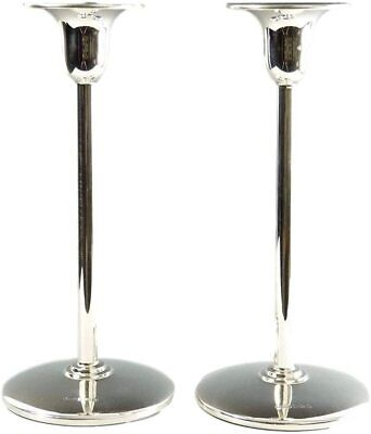 """LJM - Sterling Silver - """"Liberty"""" - Pair of Candlesticks - 7"""""""