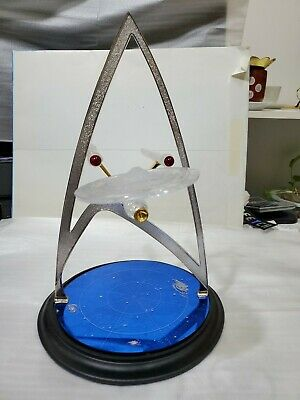 Star Trek U.s.s. Enterprise Crystal Gold & Silver Sculpture Franklin Mint.