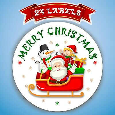 48x Merry Christmas Sticker Gift Labels Xmas Party Decoration Stickers SNP25