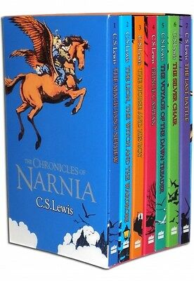 The Chronicles of Narnia C.S. Lewis 7 Books Box Set Pack *EXPRESS POSTAGE*