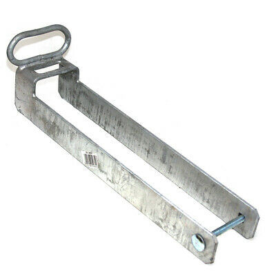 """THROW OVER LOOP W/ HANDLE GALVANISED GATE LATCH - FOR 75mm / 3"""" WIDE FARM GATES"""