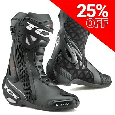 TCX RT-Race Motorcycle / Motorbike Boots Black