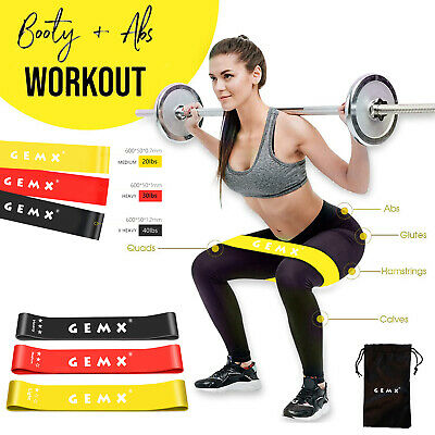 New Resistance bands Exercise Loop Band Set Fitness Gym Elastic Hip Booty Bands