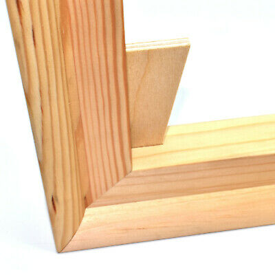 CANVAS STRETCHER BARS 19mm PAIRS STANDARD FRAMES + WEDGES CANVASES PINE BAR