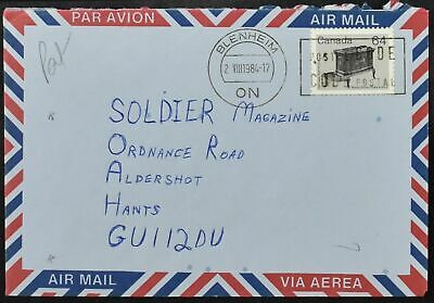 Canada 1984 Airmail Cover To England #C53959