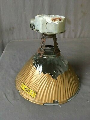Vtg Industrial X Ray Light Gold Mercury Shade Factory Curtis Steampunk 251-19E