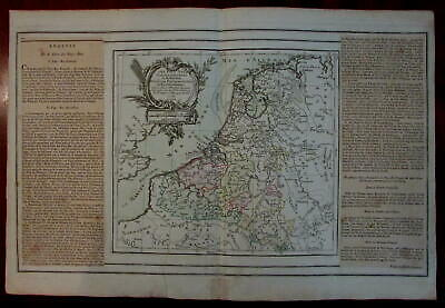 Netherlands Nederland Holland Pays Bas Low countries 1766 Desnos map