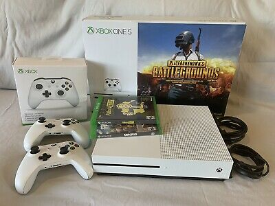 Microsoft Xbox One S Two-Controller Bundle 1TB Gaming Console Pre-Owned