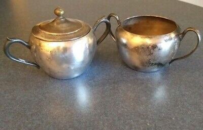 National Silver on Copper Sugar Bowl and one FB Rogers Silver Co. Sugar Bowl